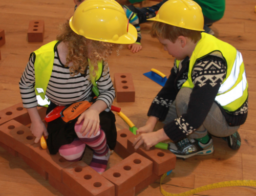 What makes the construction site our most popular role play area?