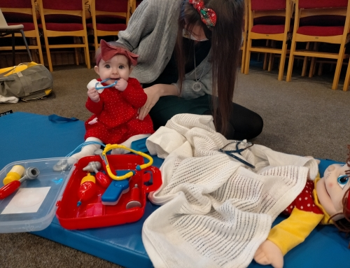 What do babies learn through role play?